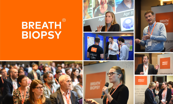 Montage of photos from 2019 Breath Biopsy Conference