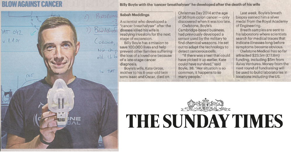 Owlstone Medical Sunday Times article