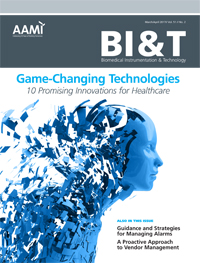 Biomedical Instrumentation and Technology - Game Changing Technologies cover